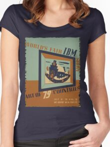 WPA United States Government Work Project Administration Poster 0745 World's Fair IBM Show Women's Fitted Scoop T-Shirt
