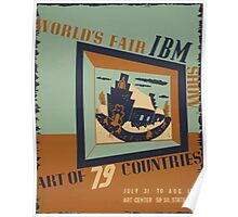 WPA United States Government Work Project Administration Poster 0745 World's Fair IBM Show Poster