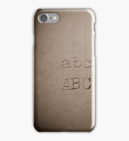 alphabet - rusty letters iPhone Case/Skin