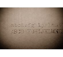 alphabet - rusty letters Photographic Print