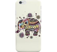 Cute Colorful Floral Baby Elephant iPhone Case/Skin