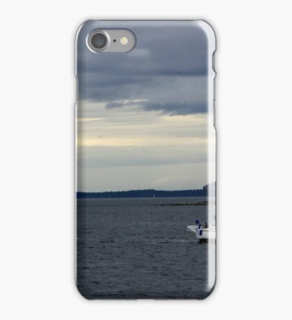 Sailboat on the Puget Sound iPhone Case/Skin