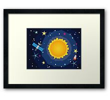 Sun in the Space Framed Print