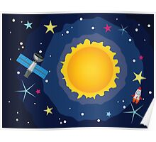 Sun in the Space Poster