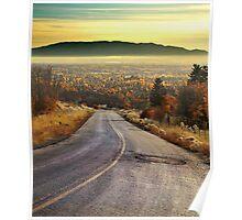 Autumn Road - Dry Fork Canyon, Alpine, Utah Poster