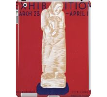 WPA United States Government Work Project Administration Poster 0207 Sculpture Exhibition Federal Art Gallery iPad Case/Skin