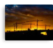 Construction Sunset Canvas Print