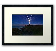 Pigeon Point's 24 Points of Light Framed Print