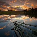 Waiting for the dawn... Loch Moraig, Perthshire by David Mould