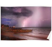 Lightning Over Nightcliff Beach, 14 Nov 2010 Poster