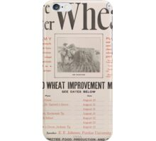 United States Department of Agriculture Poster 0219 More Better Wheat Improvement Meetings iPhone Case/Skin