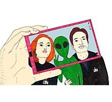 X Files Selfie Photographic Print