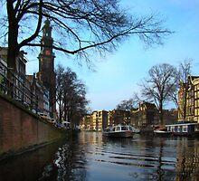 Canals Of Amsterdam III by Al Bourassa