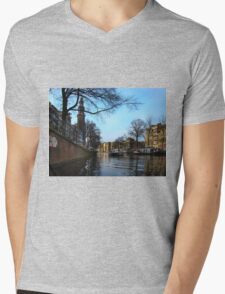 Canals Of Amsterdam III Mens V-Neck T-Shirt