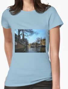 Canals Of Amsterdam III Womens Fitted T-Shirt