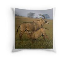 ROAN ANTELOPE (NOT A PHOTOGRAPH OR PHOTOMANIPULATION) Throw Pillow