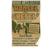 WPA United States Government Work Project Administration Poster 0860 Hansel and Gretel Beaux Arts Theatre Poster