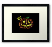 Pumpkin King - Halloween. Framed Print