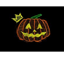 Pumpkin King - Halloween. Photographic Print