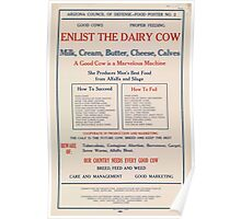 United States Department of Agriculture Poster 0048 Enlist The Dairy Cow Poster