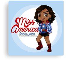YA Chibi America Canvas Print