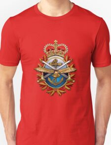 Canadian Forces Emblem over Waving Flag T-Shirt