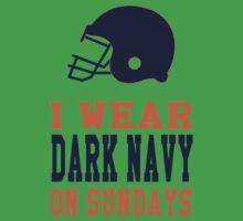 I Wear Dark Navy on Sundays Kids Tee