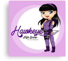 YA Chibi Hawkeye (Kate Bishop) Canvas Print