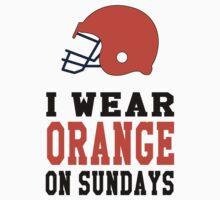 I Wear Orange on Sundays (Cincinnati) One Piece - Short Sleeve