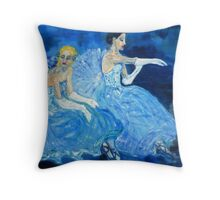 Dancers Resting Throw Pillow