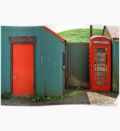 Loom Shed & Telephone Box, Skye, Scotland, UK. Poster