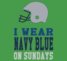 I Wear Navy Blue on Sundays (Dallas) One Piece - Short Sleeve