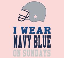 I Wear Navy Blue on Sundays (Dallas) Kids Tee