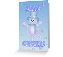 A Snowmans Christmas Greeting Card