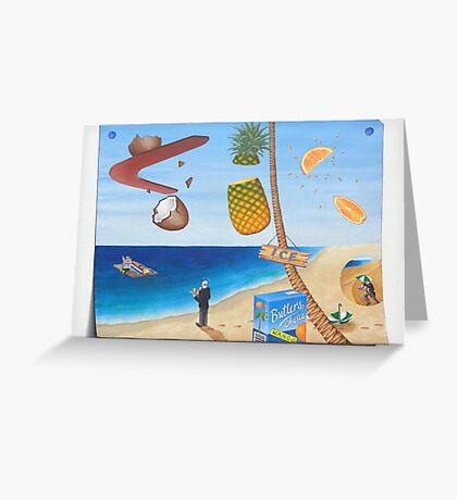 Butler's Choice: Fresh juice on the beach Greeting Card