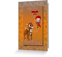 Rudolf`s Christmas Card Greeting Card