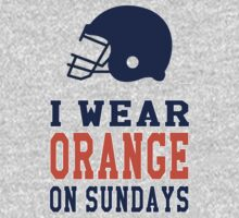 I Wear Orange on Sundays (Denver) Kids Tee
