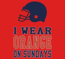 I Wear Orange on Sundays (Denver) Kids Tee