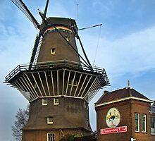 Tilting At Windmills In Amsterdam by Al Bourassa