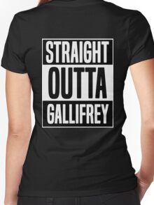 Straight Outta Gallifrey Women's Fitted V-Neck T-Shirt