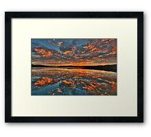 In Reflection - Narrabeen Lakes, Sydney - The HDR Experience Framed Print