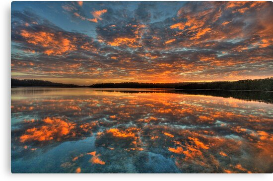 In Reflection - Narrabeen Lakes, Sydney - The HDR Experience by Philip Johnson