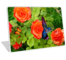 Hummingbird And Roses Laptop Skin