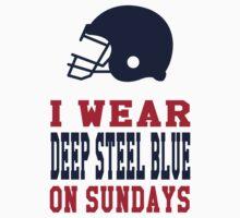 I Wear Deep Steel Blue on Sundays Kids Clothes