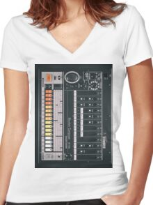 Electronic Rumors: 808 Women's Fitted V-Neck T-Shirt