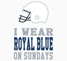 I Wear Royal Blue on Sundays (Indianapolis) Kids Tee