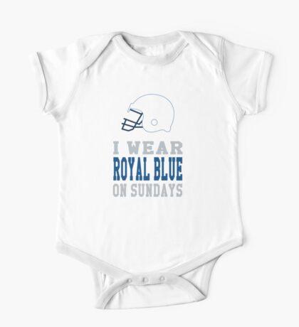 I Wear Royal Blue on Sundays (Indianapolis) One Piece - Short Sleeve
