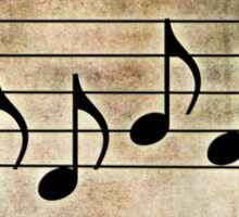 BASS - Words in Music Earthy Background - V-Note Creations Sticker