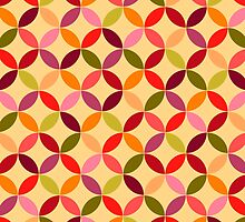 Colourful retro pattern by OkPen