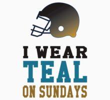 I Wear Teal on Sundays Baby Tee